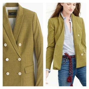 Jcrew green wool suit blazer sz 8